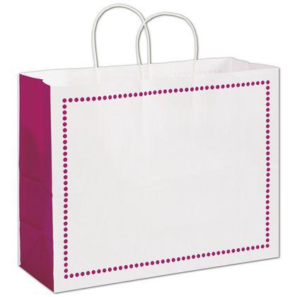 "Madison Raspberry Shoppers, 16 x 6 x 12 1/2"""