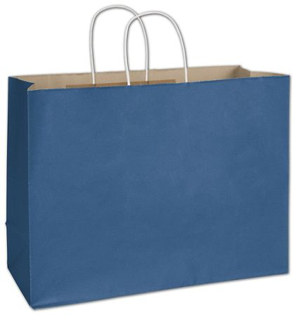 Nautical Blue Radiant Shoppers, 16 x 6 x 12 1/2""