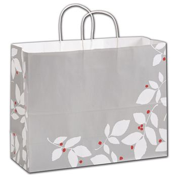Silver Splendor Shoppers, 16 x 6 x 12 1/2