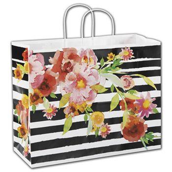 Vibrant Floral Shoppers, 16 x 6 x 12 1/2