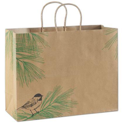 "Winter Chickadee Shoppers, 16 x 6 x 12 1/2"""