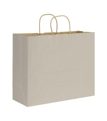 Ash Varnish Stripe Shoppers, 16 x 6 x 12 1/2