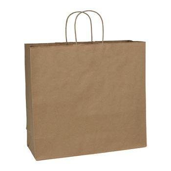 Kraft Paper Shoppers Debonair, 16 x 6 x 15 1/2