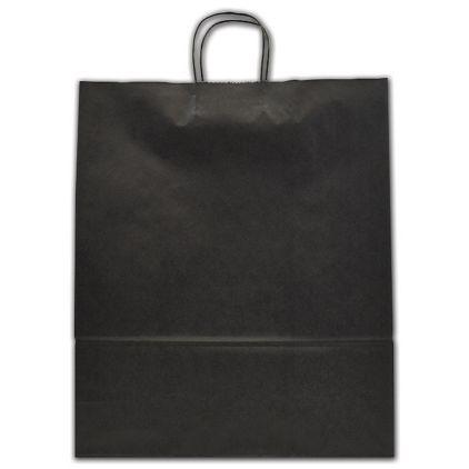 "Black Color-on-Kraft Shoppers, 16 x 6 x 19"""