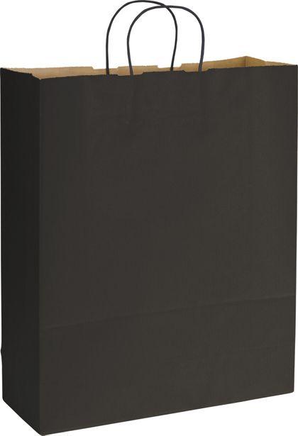 "Black Varnish Stripe Shoppers, 16 x 6 x 19"""