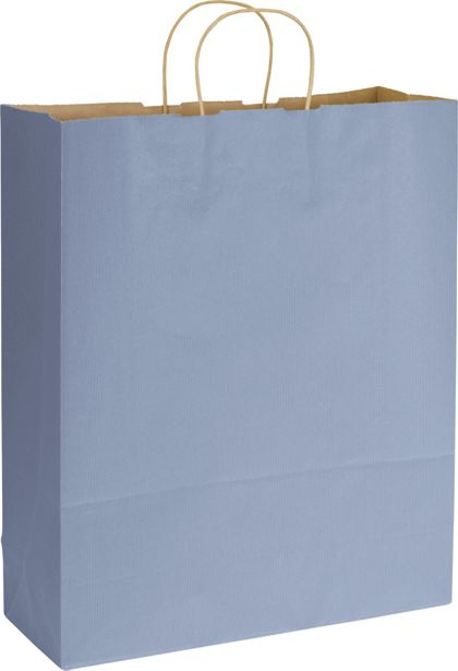 French Blue Varnish Stripe Shoppers, 16 x 6 x 19""