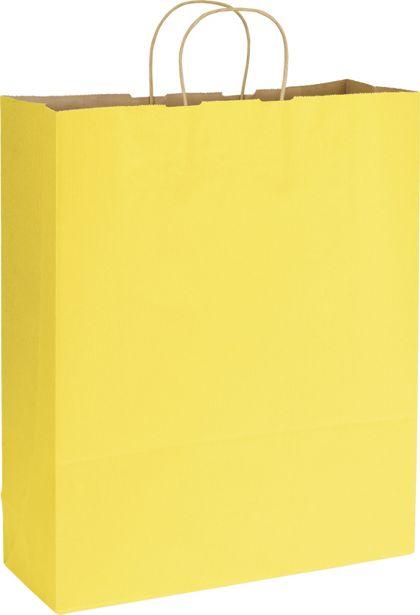 "Yellow Varnish Stripe Shoppers, 16 x 6 x 19"""