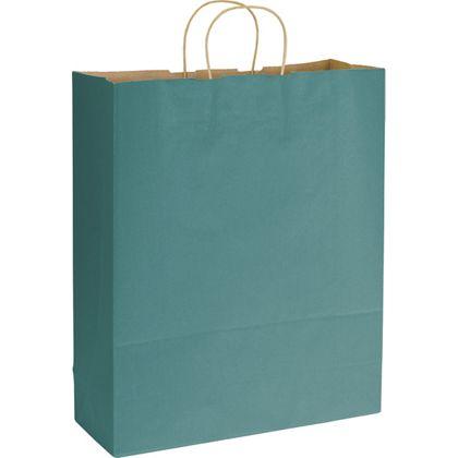 "Peacock Varnish Stripe Shoppers, 16 x 6 x 19"""