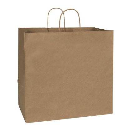 Recycled Kraft Paper Shoppers Regent, 16 x 10 x 15 1/2