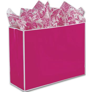 Fillmore Fuchsia Shoppers, 16 x 6 x 12