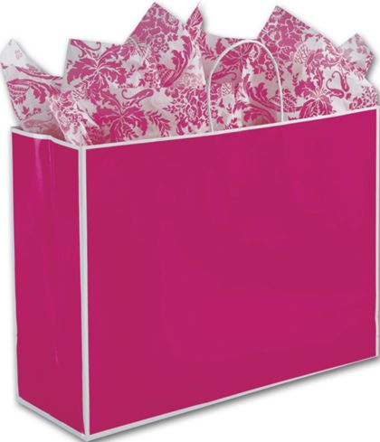 Fillmore Fuchsia Shoppers, 16 x 6 x 12""
