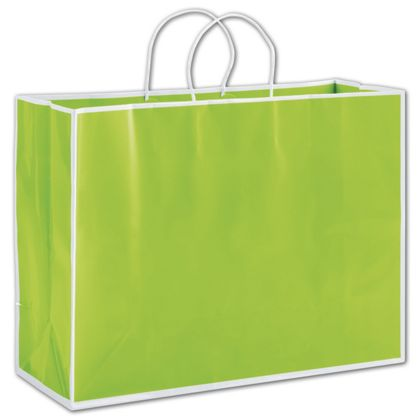 Lombard Lime Shoppers, 16 x 6 x 12
