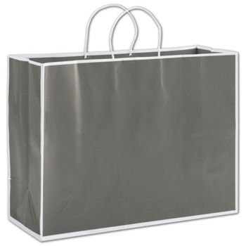 Slate Grey Shoppers, 16 x 6 x 12