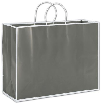 Slate Grey Shoppers, 16 x 6 x 12""