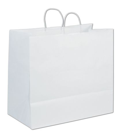 White Paper Shoppers Extra Jumbo, 18 x 9 1/4 x 16 1/4""