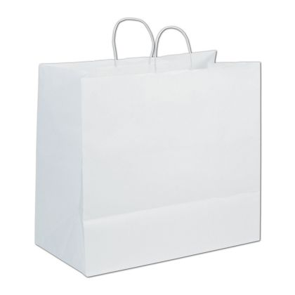 White Paper Shoppers Extra Jumbo, 18 x 9 1/4 x 16 1/4