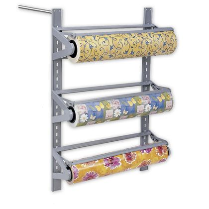 "Three Roll Wall Rack, 24"" Rolls"