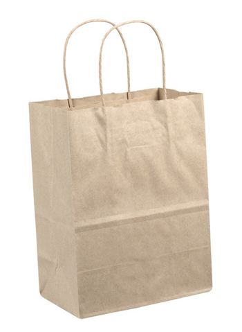 Kraft Paper Shoppers, 24 x 7 1/4 x 18 3/4