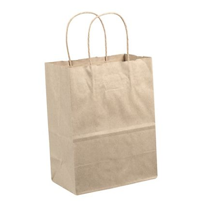 "Kraft Paper Shoppers, 24 x 7 1/4 x 18 3/4"""