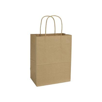 Kraft Paper Shoppers Cub, 8 1/4 x 4 3/4 x 10 1/2