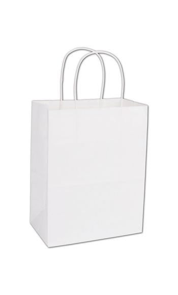 White Paper Shoppers Cub, 8 1/4 x 4 3/4 x 10 1/2