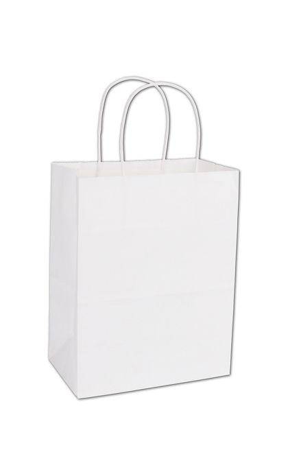 "White Paper Shoppers Cub, 8 1/4 x 4 3/4 x 10 1/2"""