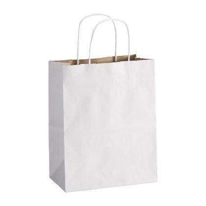 """White Duet Shoppers Cub, 8 1/4 x 4 3/4 x 10 1/2"""""""