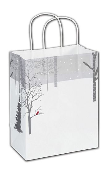 Blissful Cardinal Shoppers, 8 1/4x4 3/4x10 1/2