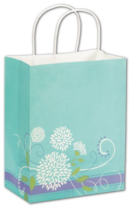 "Spring Bouquet Shoppers, 8 1/4x4 3/4x10 1/2"", Mini Pack"