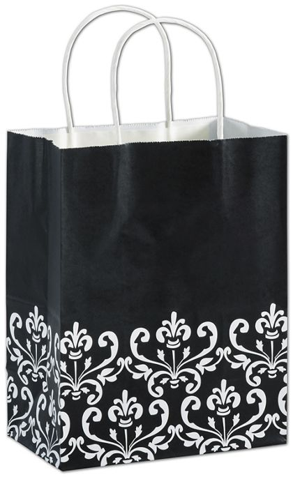 "Ebony Chic Shoppers, 8 1/4 x 4 3/4 x 10 1/2"", Mini Pack"