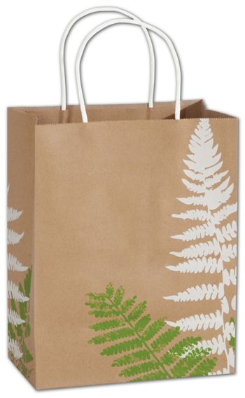 Fashion Fronds Shoppers, 8 1/4x4 3/4x10 1/2