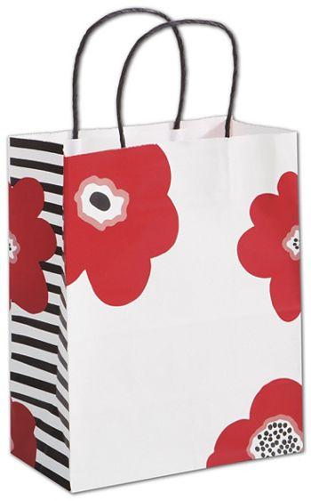 Poppy Shoppers, 8 1/4 x 4 3/4 x 10 1/2