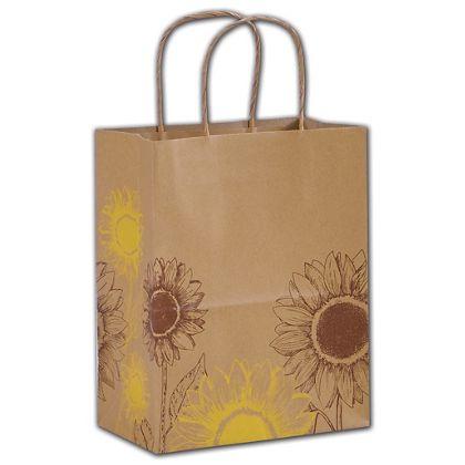 "Sunflower Shoppers, 8 1/4 x 4 3/4 x 10 1/2"", Mini Pack"