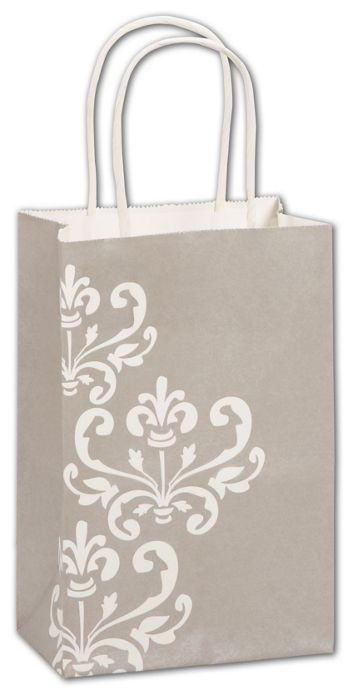 Champagne Chic Shoppers, 5 1/4 x 3 1/2 x 8 1/4