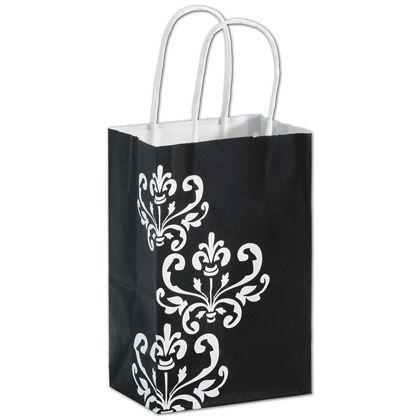 "Ebony Chic Shoppers, 5 1/4 x 3 1/2 x 8 1/4"", Mini Pack"