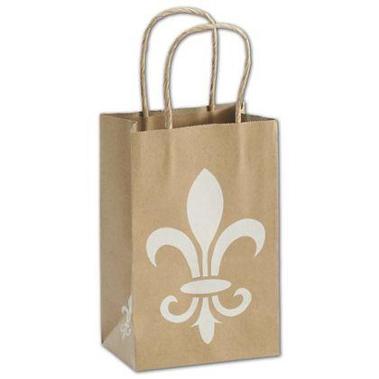 """Fleur-De-Lis Shoppers, 5 1/4 x 3 1/2 x 8 1/4"""", Mini Pack"""