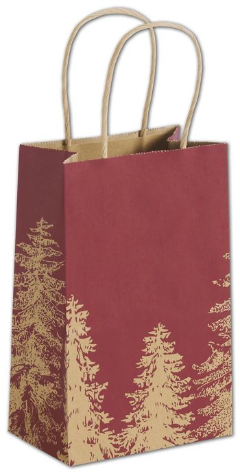 A Pine Day Shoppers, 5 1/4 x 3 1/2 x 8 1/4
