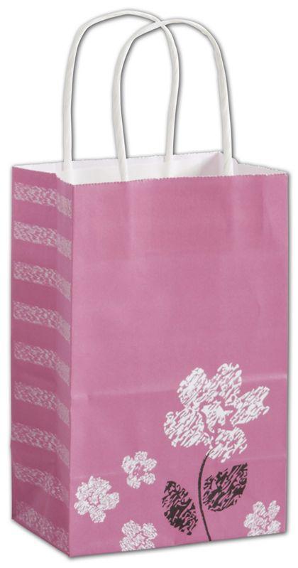 """Pretty Primrose Shoppers, 5 1/4x3 1/2x8 1/4"""", Mini Pack"""