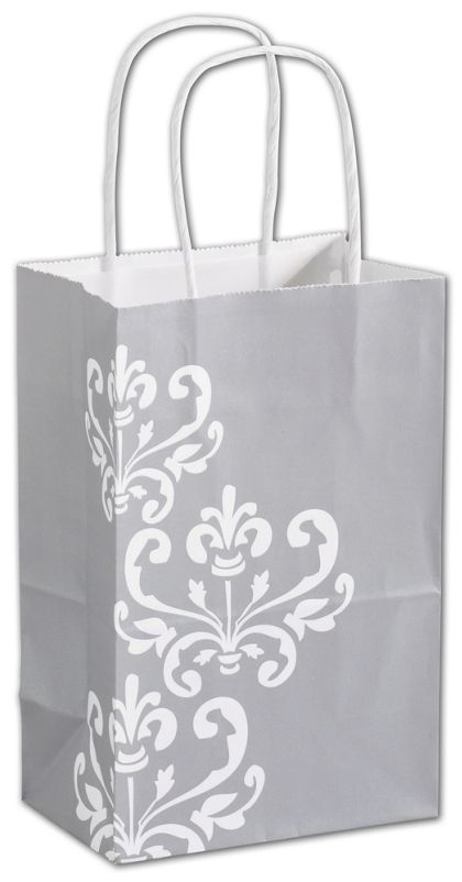 """Silvery Chic Shoppers, 5 1/4 x 3 1/2 x 8 1/4"""", Mini Pack"""