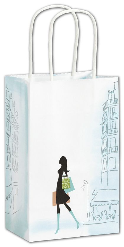 "Chic Shoppers, 5 1/4 x 3 1/2 x 8 1/4"". Mini Pack"