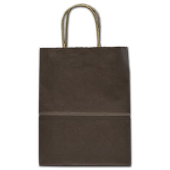 """Brown Tinted Shoppers, 8 1/4 x 4 3/4 x 10 1/2"""""""