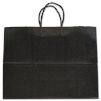 "Black Tinted Shoppers, 16 x 6 x 12 1/2"""