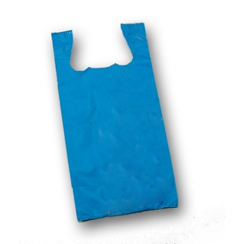 Royal Unprinted T-Shirt Bags, 11 1/2 x 7 x 23""