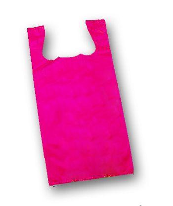 Cerise Unprinted T-Shirt Bags, 11 1/2 x 7 x 23