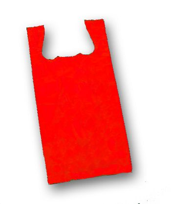 Red Unprinted T-Shirt Bags, 11 1/2 x 7 x 23