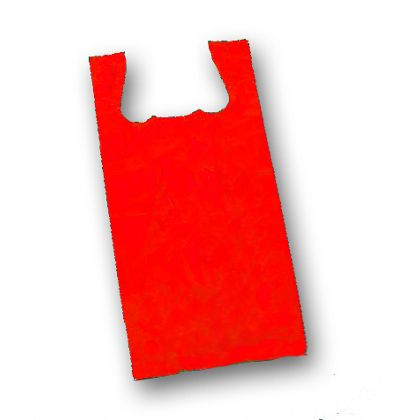 Red Unprinted T-Shirt Bags, 11 1/2 x 7 x 23""