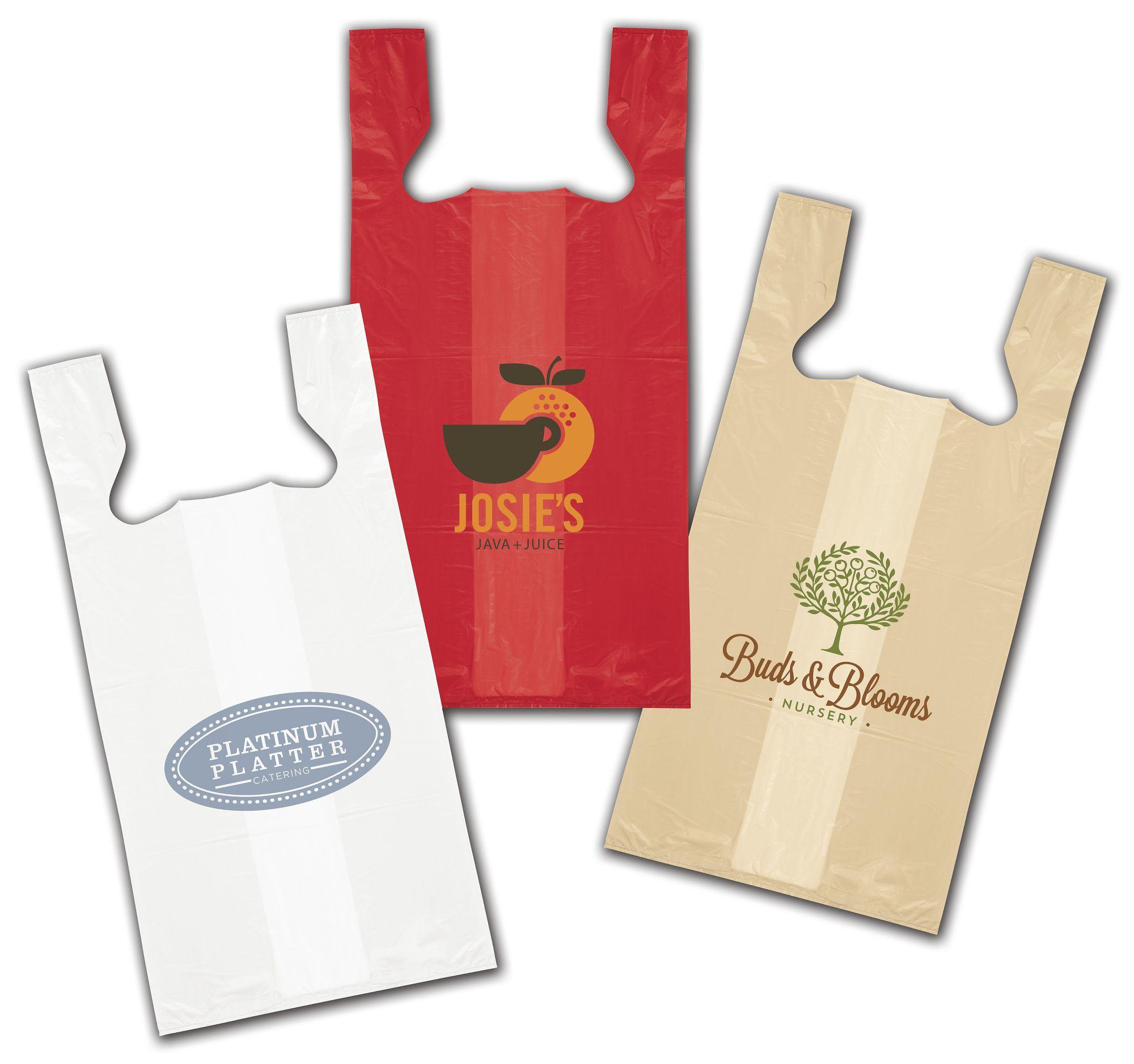 High Density T Shirt Bags Custom Printed 12 X 7 X 22 Bags Bows
