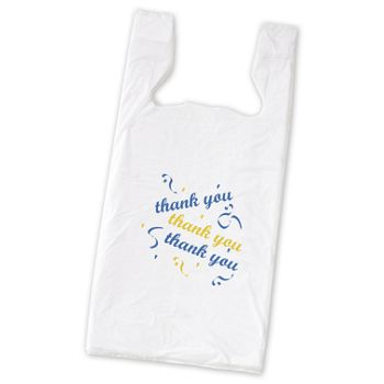 Thank You Pre-Printed T-Shirt Bags, 11 1/2 x 7 x 23""