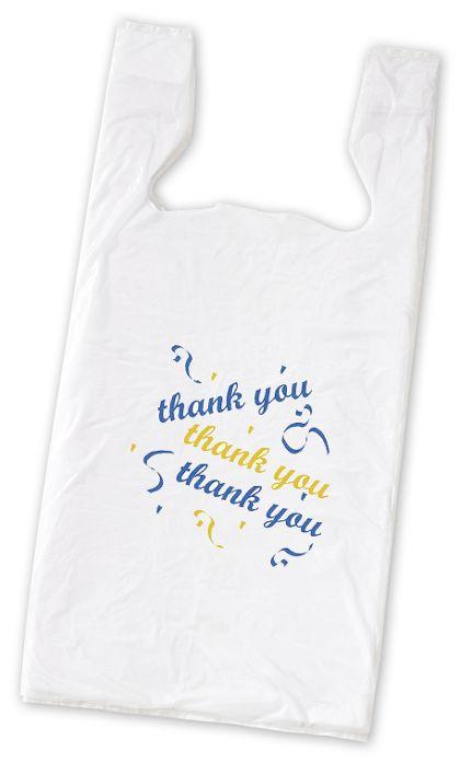 "Thank You Pre-Printed T-Shirt Bags, 11 1/2 x 7 x 23"""