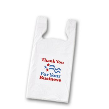 Thank You Pre-Printed T-Shirt Bags, 11 1/2 x 7 x 23